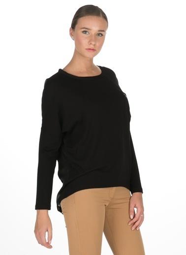 Caramel Uzun Kollu Bluz Siyah